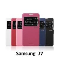 【GAMAX 嘉瑪仕】視窗商務側掀套 Samsung J7