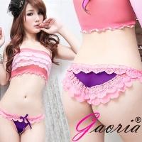 【Gaoria】醉入花叢 蕾絲性感三角內褲 紫(T-009)
