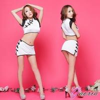 【Gaoria】風華上海灘 複古盤扣分體旗袍 角色扮演 制服 情趣睡衣角色服(N3-0047)