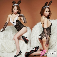 【Gaoria】頑皮小兔 性感蕾絲兔女郎 角色扮演 制服 情趣睡衣角色服(N3-0055)