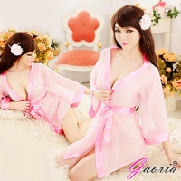 【Gaoria】清純小百合 誘惑睡衣睡裙 外罩衫 睡袍(N3-0025)