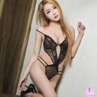 【AYOKA】情趣睡衣 黑色網紗曲線連身衣(NA11030082)