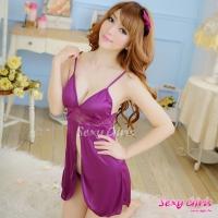 【Sexy Girls】情趣睡衣 性感深V紫戀二件式睡衣(CM-16005068)