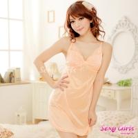【Sexy Girls】情趣睡衣 性感橙深V吊帶二件式睡衣(CM-16007741)