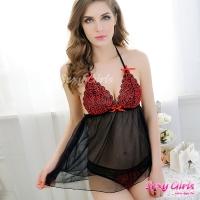 【Sexy Girls】情趣睡衣 深V蕾絲誘惑二件式睡衣(CM-16005562)