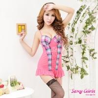 【Sexy Girls】性感睡衣 情趣馬甲吊襪帶三件組 贈黑網襪一雙(CM-16009012)