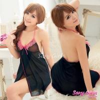 【Sexy Girls】情趣睡衣 性感吊帶胸緹花二件式睡衣(CA-17008011)