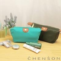 CHENSON 質感化妝收納包 軟式款 湖藍綠(CG20753-5)