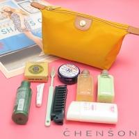 CHENSON 質感化妝收納包 軟式款 黃(CG20753-L)
