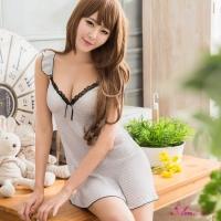 【Anna Mu】甜美水玉點點風雪紡睡衣(NA09020166)
