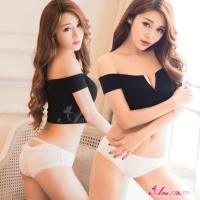 【Anna Mu】美臀挖洞造型低腰三角內褲(白色)(NA11010020-1)