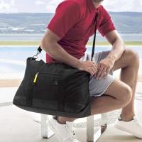1818 減壓肩背帶 大容量旅行袋 黑(BS16003-3)