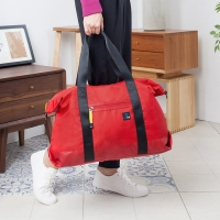 1818 減壓肩背帶 大容量旅行袋 紅(BS16003-R)