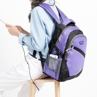 1818 寬背帶系列 不勒肩膀後背包 紫(CG20512-3Q)
