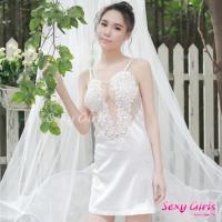 【Sexy Girls】情趣睡衣 性感吊帶露背誘惑二件式睡衣(CF-18001088-W)