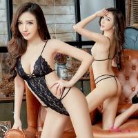 【Anna Mu】情趣睡衣 絕美誘惑黑色蕾絲性感連身衣(NA10030048)