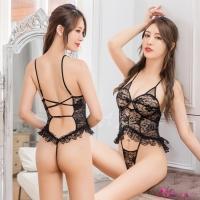 【Anna Mu】情趣睡衣 魅黑蕾絲性感美背情趣連身衣(NA13030117)