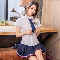 【Anna Mu】角色扮演 純真愛戀風三件式高校制服學生角色服(NA16030076)