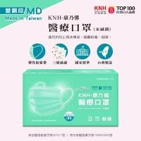 【台灣製造雙鋼印】KNH-康乃馨醫療口罩(粉綠)50片/盒