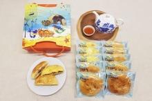 海宴~海味鮮酥餅禮盒(鮮味牡蠣酥餅*3+虱目魚酥餅*2+大地蘿蔔酥餅*3)