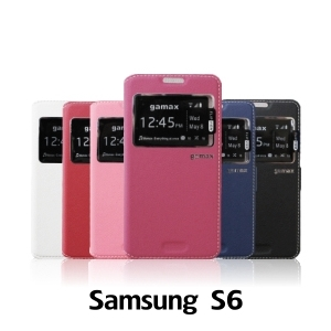 【GAMAX 嘉瑪仕】視窗商務側掀套 Samsung S6
