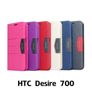 【GAMAX 嘉瑪仕】完美側掀站套 HTC Desire 700