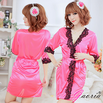 【Gaoria】甜美嬌妻 誘惑睡衣睡裙 睡袍 玫紅(N3-0076)
