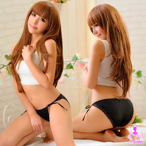 【AYOKA】甜蜜夢境!綁帶內褲(黑)(NA13010003)