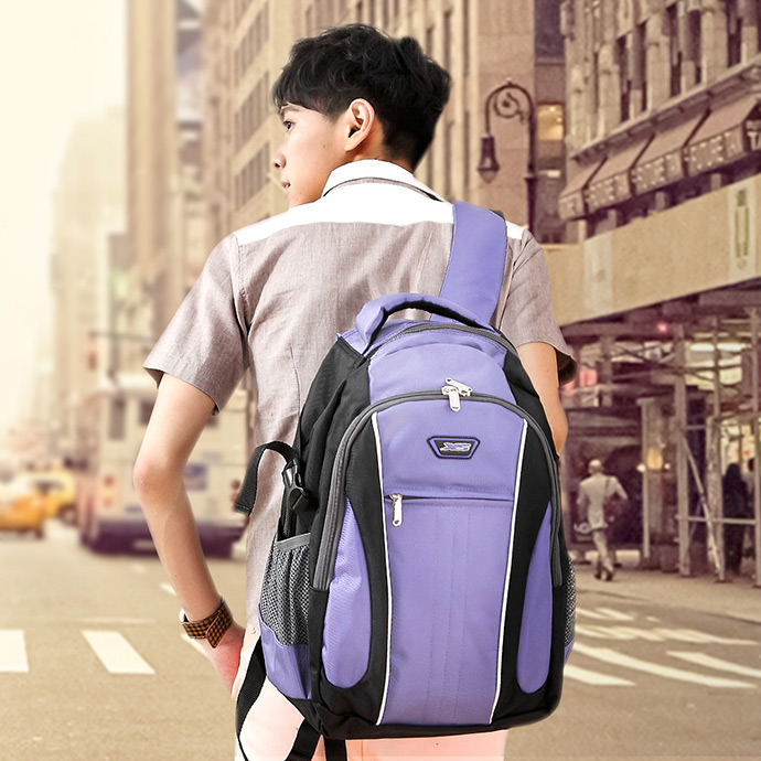 X-SPORTS 保護肩膀 厚x寬背帶後背包W型 紫(CG20508-3Q)