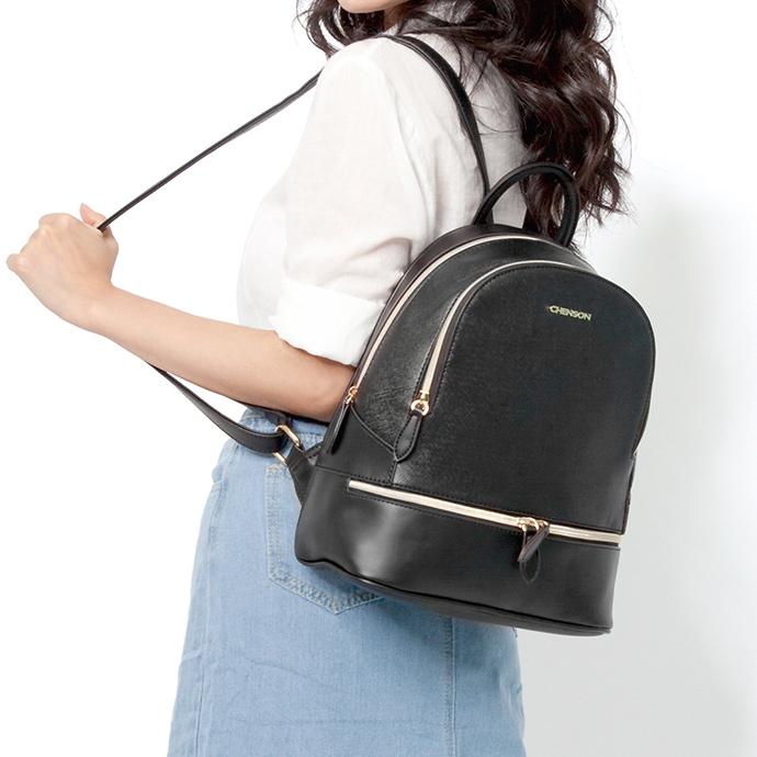 CHENSON 氣勢女子 上班也能背的皮革後背包(CG81479-3)