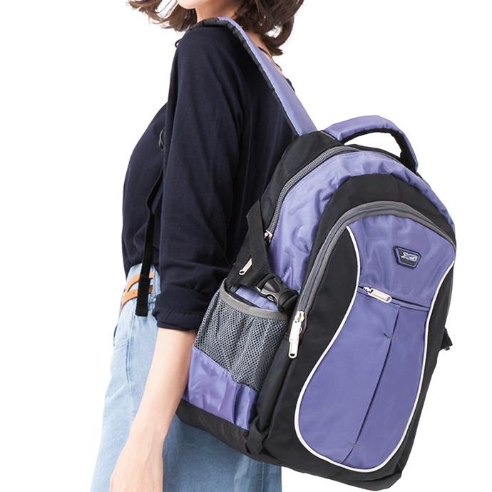 1818 寬背帶系列 不勒肩膀後背包U型 紫(CG20511-3Q)