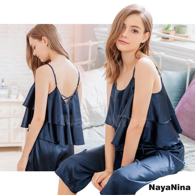【Naya Nina】簡約波浪層次上衣居家七分褲組(NA19100107)
